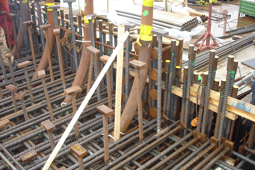 HRC - Application at anchorage points of pretension reinforcement