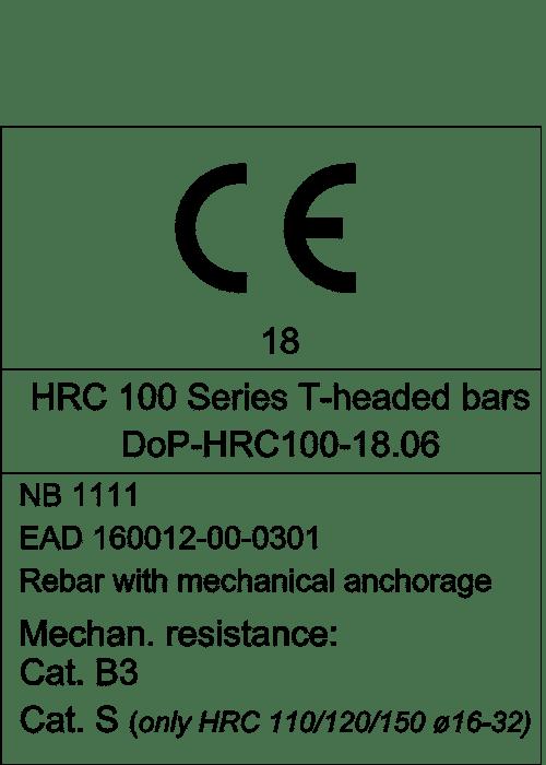 CE-merking HRC 110 - 120 - 150